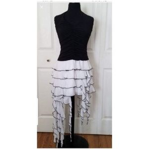 Cache NWT  black and white cocktail dress size 10